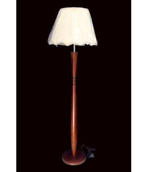 Торшер коричневый деревянный бамбук