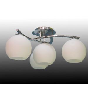 Люстра шары белая современная четырехламповая