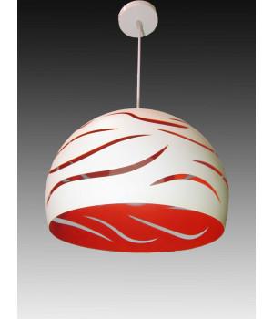 Светильник белый красный подвесной абажур