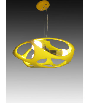 Люстра необычная акрил желтый молекула атом